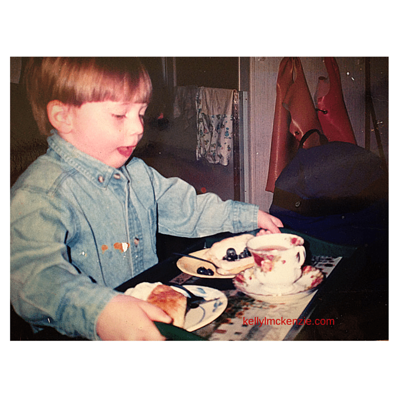 boy with tea and scones http://kellylmckenzie.com/what-mothers-really-want-for-mothers-day/