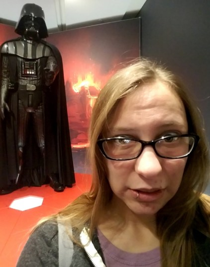 A selfie with the Darth Vader costume.