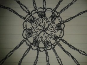 black ink mandala adrawingaday sketch project