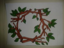 drawing daily sticker leaf branches nature ink