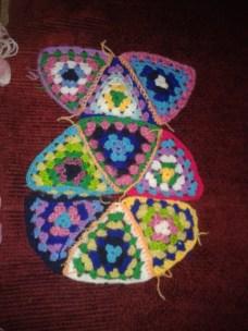 tessellating crochet granny triangle planning