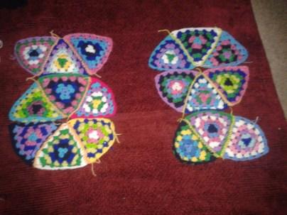 soft furnishing DIY how to piece crochet triangles