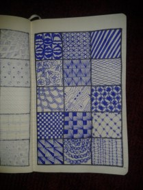 moleskine art project geometric zentangles