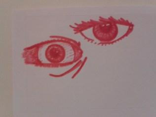 expressions sketch different eyes sticker