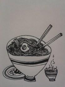 drawingdaily kellymarietheartist ink food sketching