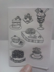daily drawing art sketch zine project desserts