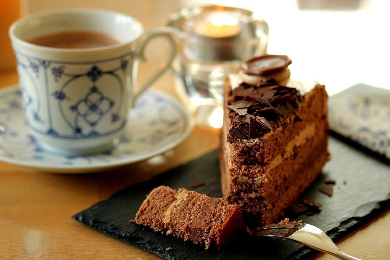 chocolate cake coffee