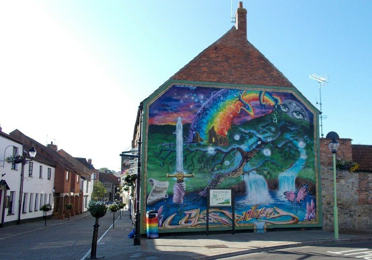 Glastonbury town art high street