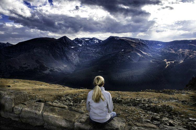 woman meditation inner peace