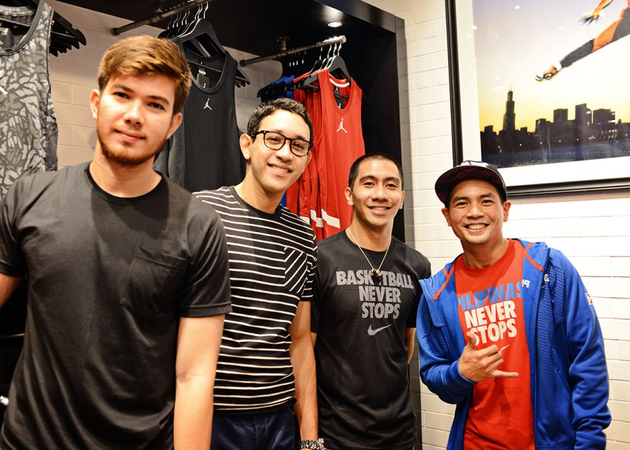 Ginebra-San-Miguel's-Rodney-Brondial,-Dylan-Ababou,-LA-Tenorio-and-host-Jinno-Rufino