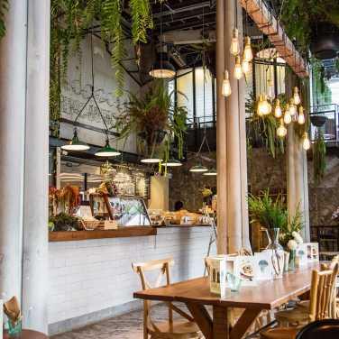 Restaurant interior in Bangkok