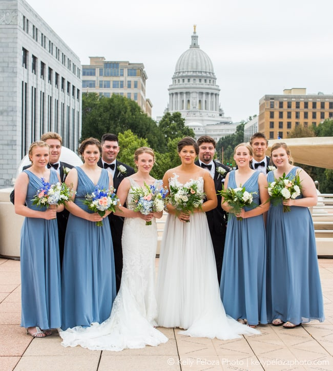 Wedding party photography at Sophie and Jorie's wedding in Madison