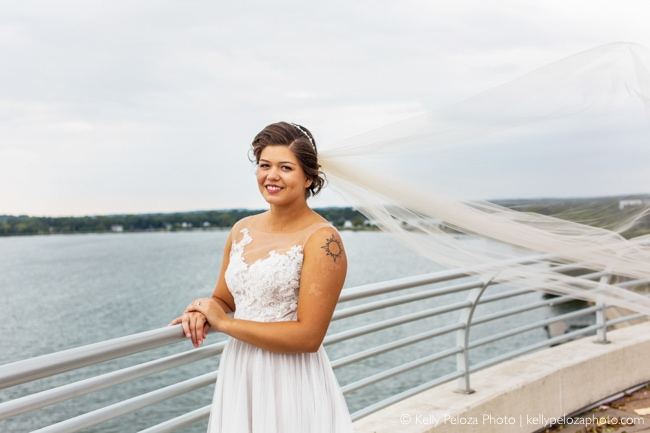 Bridal photos in Madison at Monona Terrace