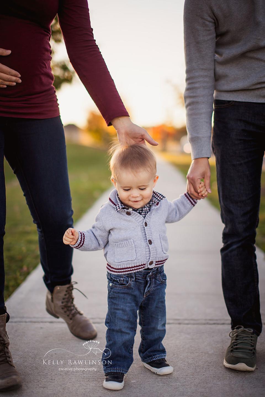 one year old boy learning to walk, family photography, georgina ontario keswick