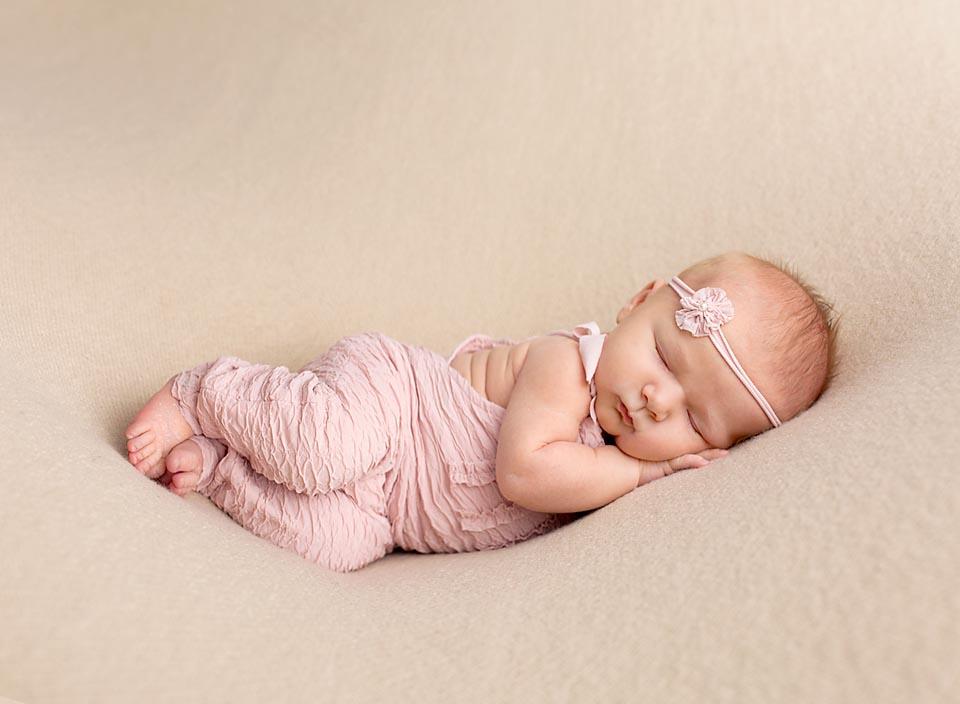 Peaceful sleeping newborn