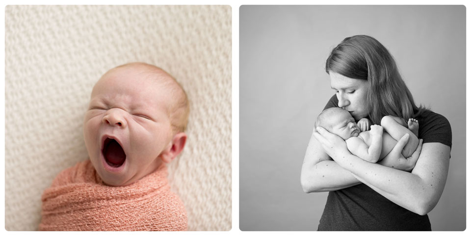 High quality newborn photos created in studio with Kelly Rawlinson Creative Photography