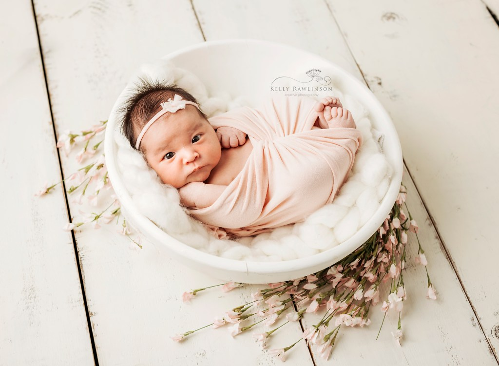 Sweet newborn baby photograph in Georgina, Ontario