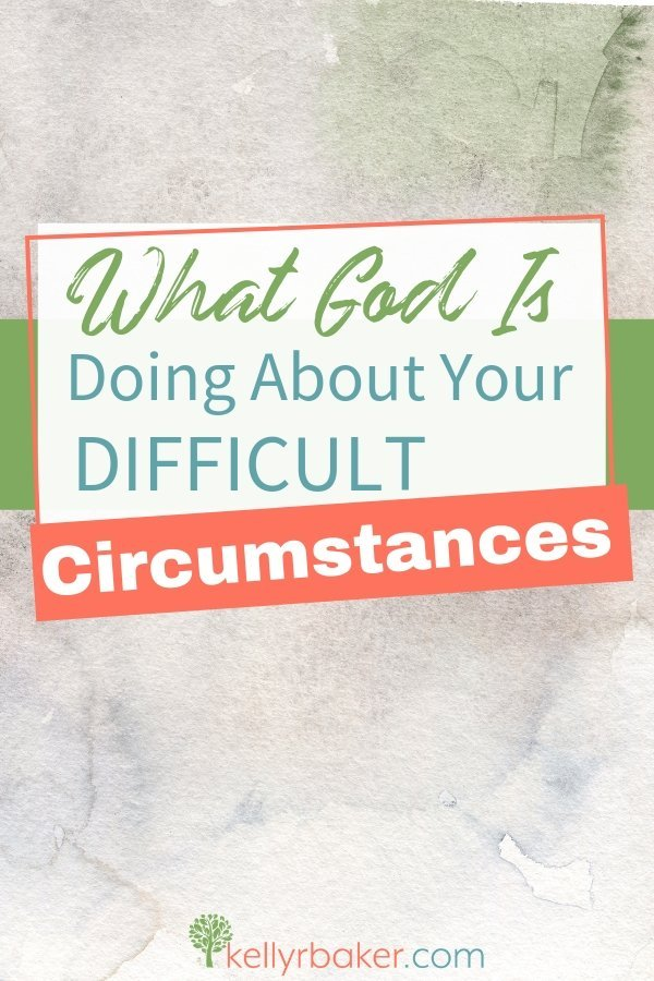 Do you sometimes wonder what God is doing about your difficult circumstances? Click here to find out how God is working behind the scenes. #ThrivingInChrist #spiritualgrowth #biblicaltruths #difficultcircumstances #trials #affliction #comfort