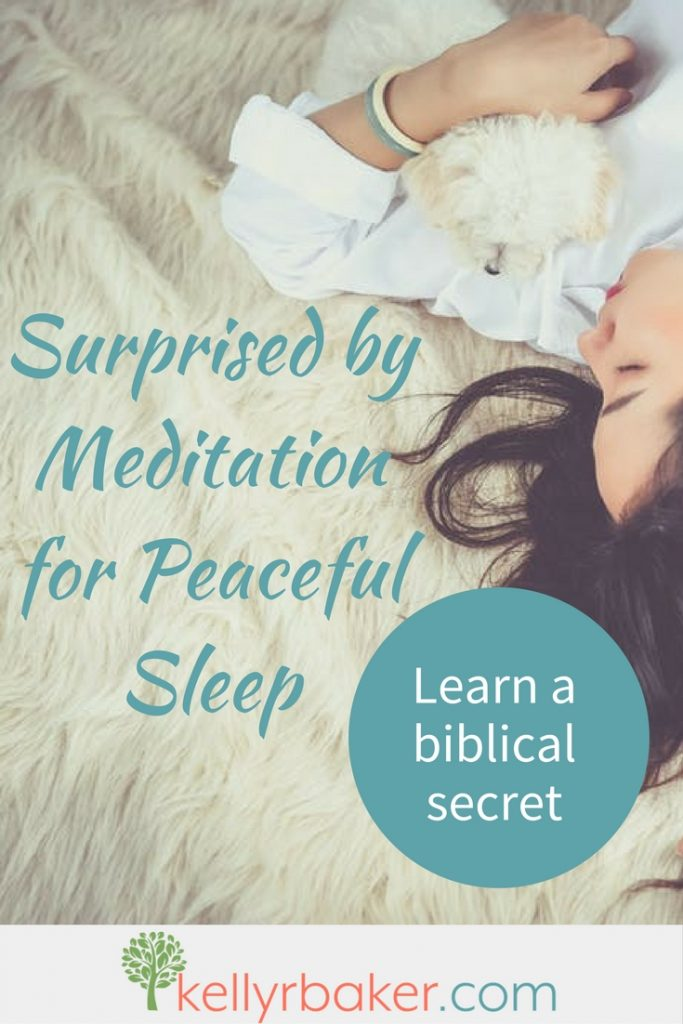 Do you struggle to quiet your mind some nights? Your body is ready for sleep, but your mind isn't. Frustrating, isn't it? Try meditating on this for peace. #sleep #Bible #God