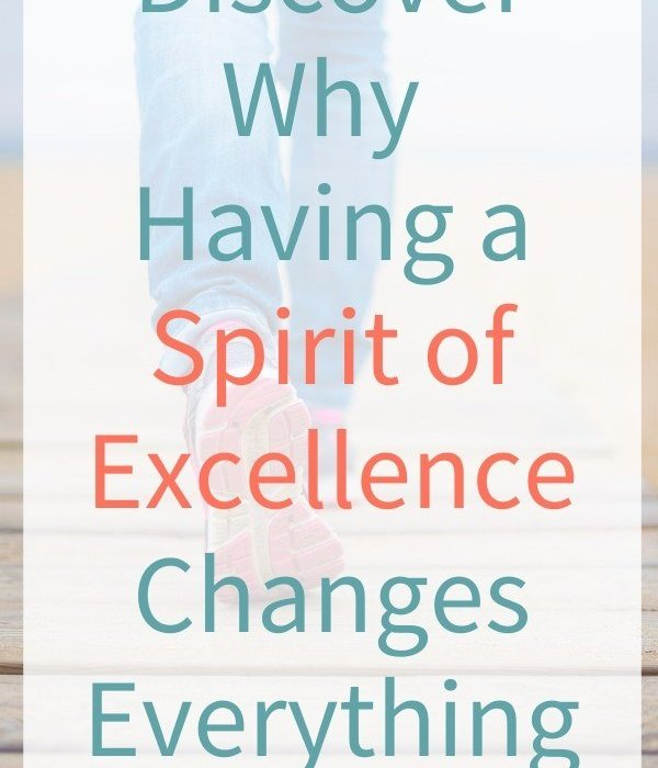 Having a Spirit of Excellence Changes Everything