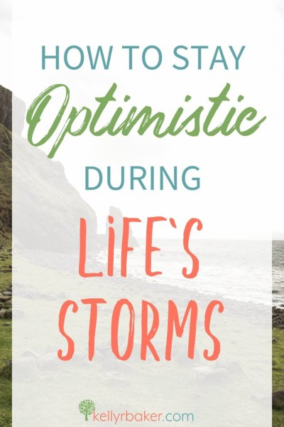 Life's storms will come and try to knock us down, but we must stay rooted in God's Word. Here's how to stay optimistic. #ThrivingInChrist #spiritualgrowth #problems #trials #suffering #biblicaltruths #rooted #optimism