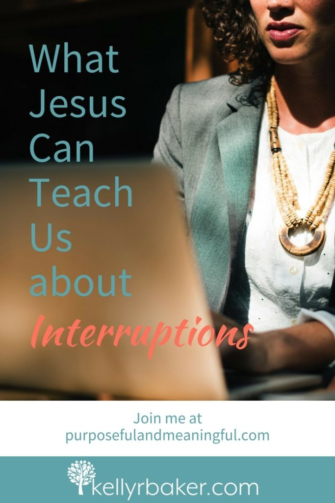 My whole life felt like one lousy disruption after another. In His goodness, God let me see that Jesus had interruptions, too. #thriving #spiritualgrowth #kids #Jesus