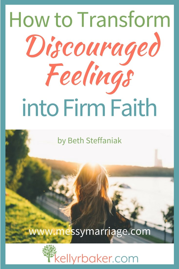 What do you do when you're in a difficult moment? Do you want to know how to transform discouraged feelings into firm faith? Try the Psalm 77 approach. #discouraged #sad #discouragement #Biblicaltruths #spiritualgrowth #thriving #messymarriage #relationships #feelings