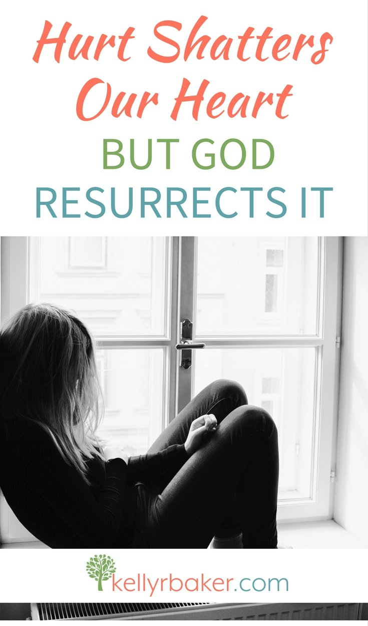 Have you ever had your heart shattered to pieces because of hurt? God sees the pain. Here is how He can resurrect your heart. #thrive #biblicaltruths #spiritualgrowth #forgive #relationships #hurt #brokenheart
