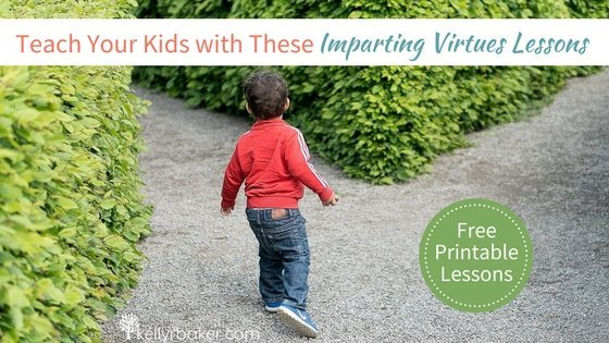 Free printable lessons for you to teach your kids biblical truths. A resource from kellyrbaker.com called Imparting Virtues. #thrive #kids #teaching #lessons #free #printable #spiritualgrowth #trainachild