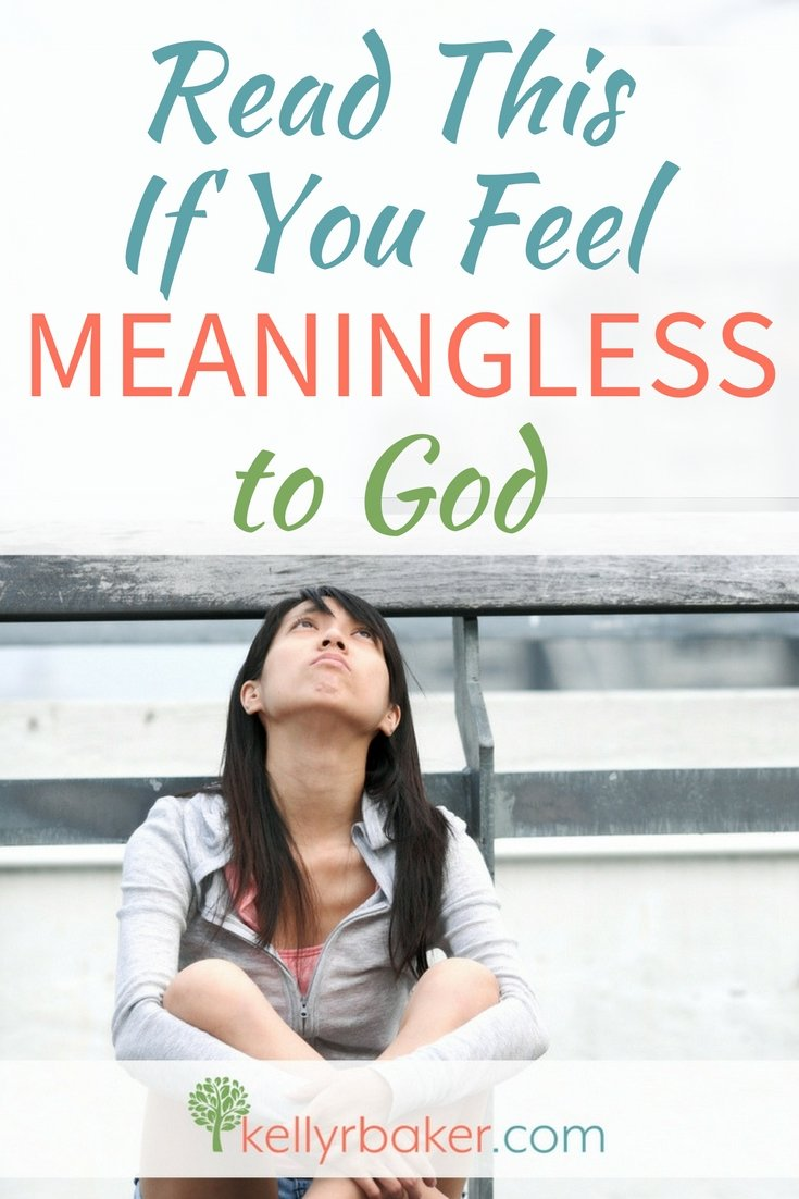 Do you feel meaningless to God? Sometimes we can feel insignificant when God is so big. But God hears you and sees you and here's why. #Thrive #ThrivingInchrist #Meaningless #RomansRoad #hope #GodsLove