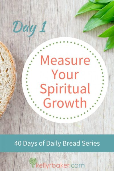 God is causing each of us to grow spiritually. Here's how to measure that spiritual growth in an intentional way as we pay attention to incremental changes. #ThrivingInChrist #DailyBread #spiritualgrowth