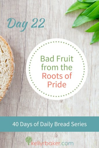 Pin this post with the title Day 22: Bad Fruit from the Roots of Pride.