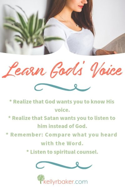 Here are some practical, biblical tips to learn God's voice. #ThrivinginChrist #spiritualgrowth #Godsvoice #DailyTime #biblicaltruths
