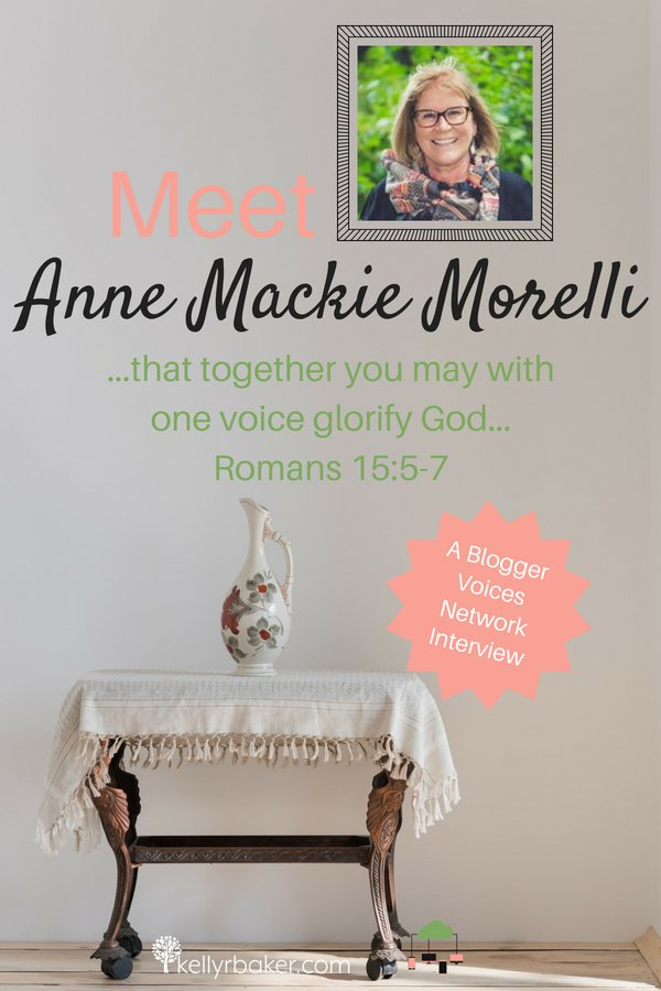 Join us for Blogger Voices Network Member Interview of Anne Mackie Morelli. Find out how this lifelong learner is using her days for the kingdom of God. #BloggerVoicesNetwork #BVNetworkParty #ThrivingInChrist #TheStonesCall #interview #blogger #wisdom #spiritualgrowth #Christian #blog
