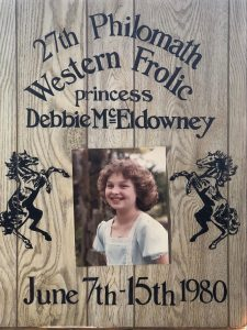Debbie Kitterman as a childhood princess