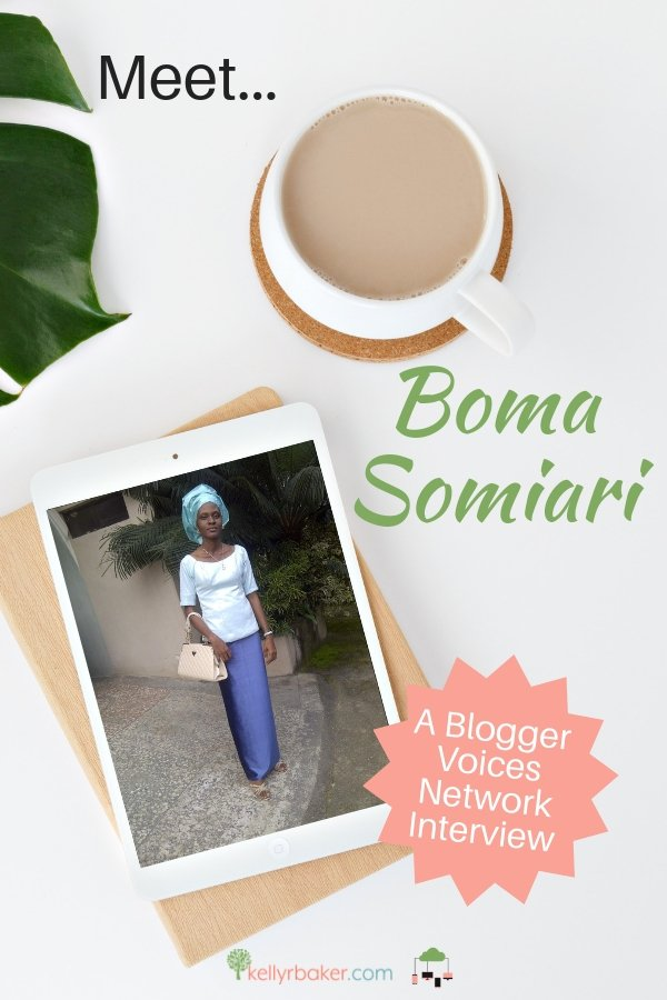 We're excited to share with you the next interview on the Blogger Voices Network! We hope you enjoy getting to know Boma Somiari today! #BloggerVoicesNetwork #BVNetworkParty #ThrivingInChrist #TheAprilJournal #interview #blogger #wisdom #spiritualgrowth #Christian #blog