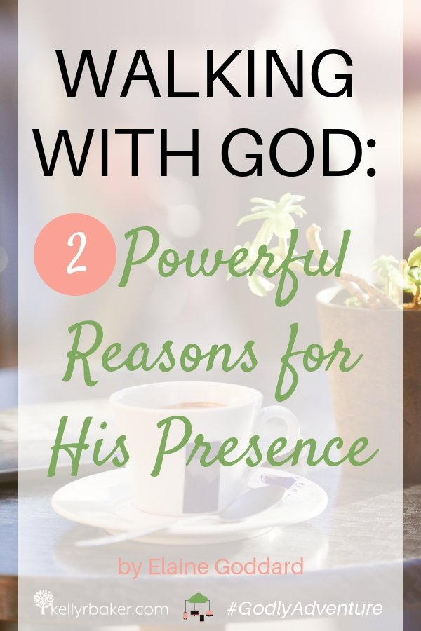 Take a moment to pause and reflect on where you are on your walk with God. Did you know there are two powerful reasons for His presence in your life? #GodlyAdventure #WalkingwithGod #BloggerVoicesNetwork #ThrivingInChrist #Bible #Christian #Jesus #Godspresence #journey #handsandfeetofjesus #dailytime #dailytimewithgod #sowingseed #quiettime #prayer #relationships