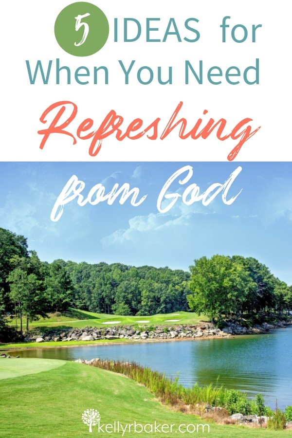 Do you need refreshing from God? Here are five ideas to consider when you come to Jesus to receive His rest. #ThrivingInChrist #refreshingfromGod #refreshing #LivingWater #weary #soulfood #spiritualgrowth #DailyTime #GodTime #cometoJesus