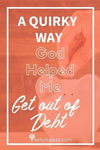 I needed to get out of debt, and asked God for help. Was I really going to thrive in Christ or not? His quirky get-out-of-debt plan surprised me. #ThrivingInChrist #debt #finances #money #plan #God #SpiritualGrowth