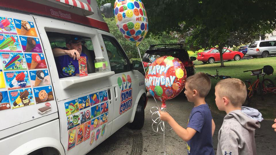 Birthdays are more fun with Kelly's Ice Cream Truck