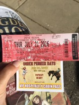 Our official (and free) tickets!