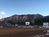 The mountain range serving as the back drop to the rodeo.... yeah- that view doesn't suck!
