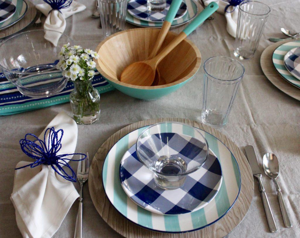 Aqua and Blue Tabletop