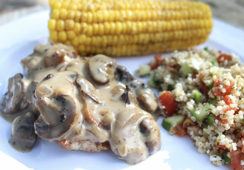 Creole Pork Chops with Creamy Mushroom Gravy