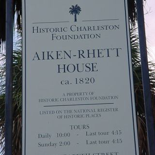 Aiken-Rhett House Charleston, SC