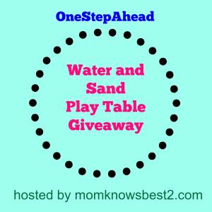 OneStepAhead Sand and Water Table Giveaway