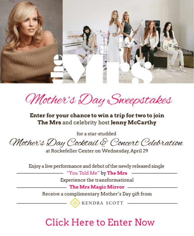 THE MRS. MOTHER'S DAY SWEEPSTAKES