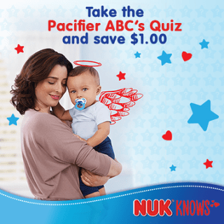 Test Your Pacifier Knowledge and Get $1 Off Coupon #NUKKnows #NUKPacifier