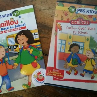 Caillou Heads Back to School  New DVD + Book Set