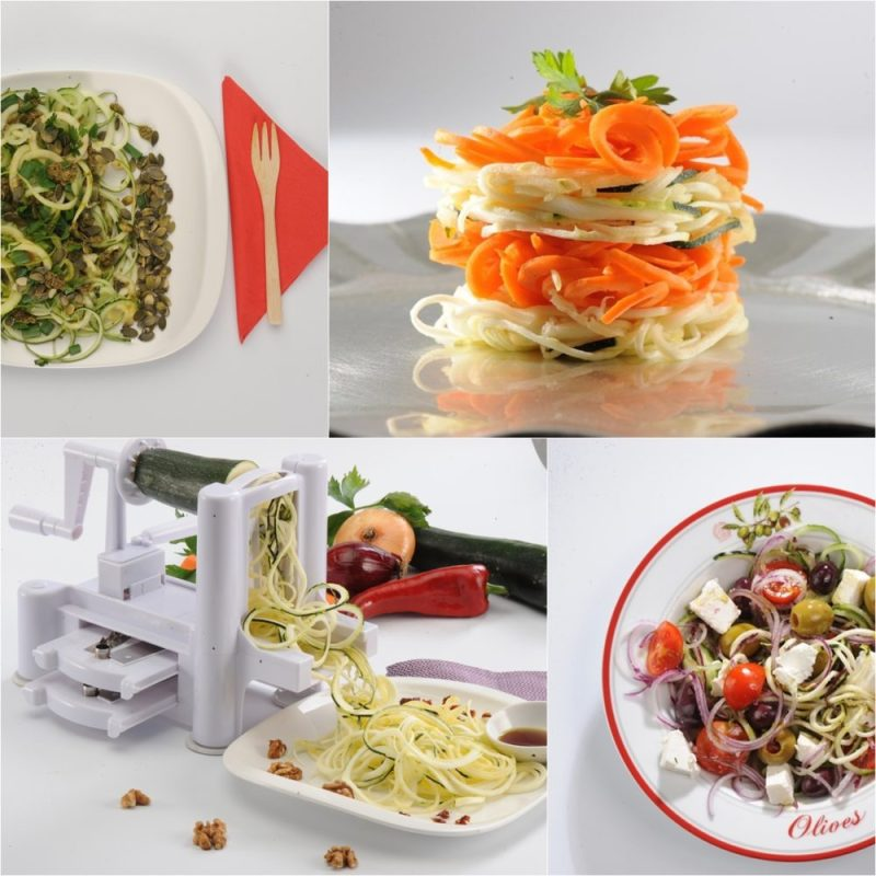Slice, Shred, and Curl potatoes and other favorite vegetables and fruits.